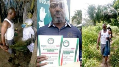 Politician takes his nomination forms to a shrine