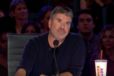 Simon Cowell on the set of America's Got Talent