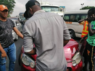 Multiple Accident In Gbagada, Lagos Involving Tanker & Other Cars [PHOTOS]