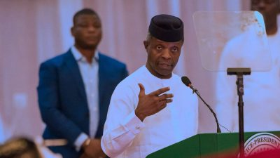 Vice President Yemi Osinbajo reveals the government's plan to electrify 5 million homes via solar power in the country