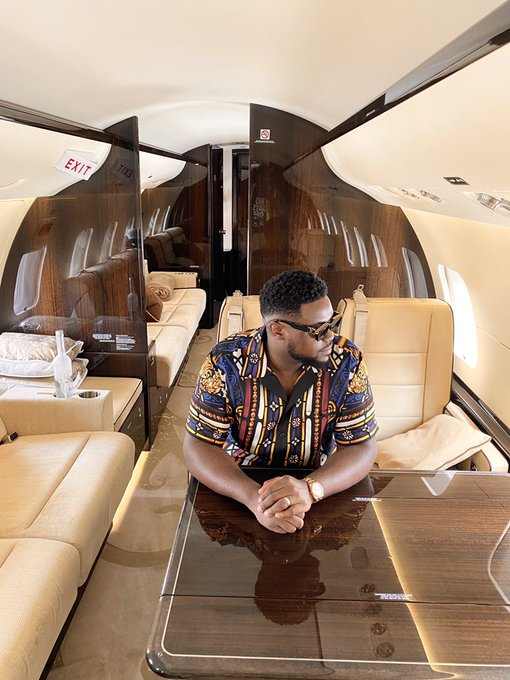Family Of A Popular Nigerian Artiste Davido Acquired Another Private Jet