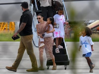 The Wests arrive Miami