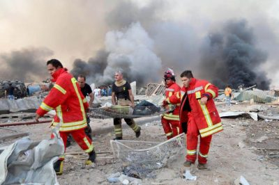 Over a hundred persons have been reported dead in the explosion which rocked the region yesterday