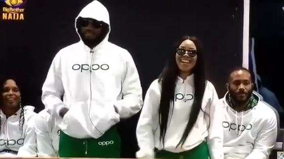 #BBNaija: Biggie Announces Erica And Praise As Oppo Task Winners, Each Gets N500,000 And Phone