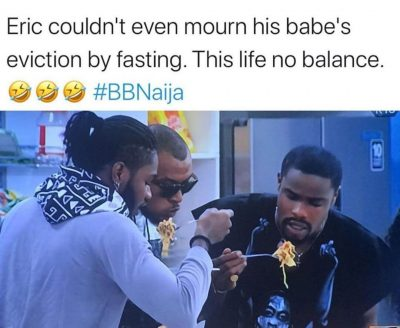 Eric Seen Eating Noodles Barely An Hour After Lilo Eviction, Nigerians React