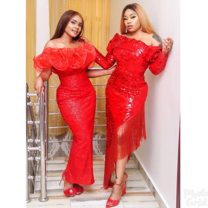 Iyabo Ojo And Toyin Lawani Stun As They Rock Matching Outfits