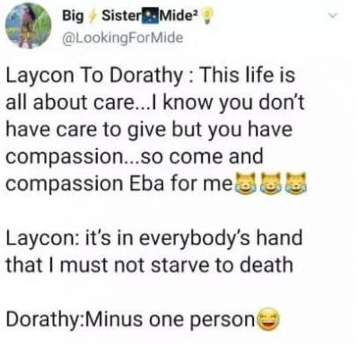"BBNaija: ""It's Everyone Duty To Ensure I Not Starve To Death In This House"" - Laycon Tells Housemates"