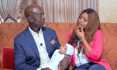 Regina Daniels and hubby Ned Nwoko reveal their son's face