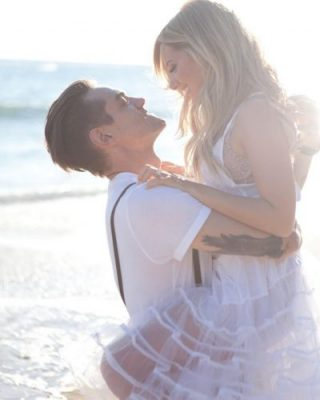 Tisdale and husband Christopher French