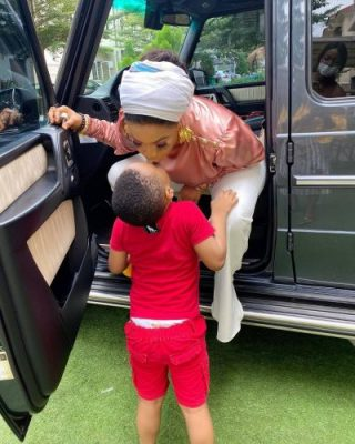 Tonto Dikeh Flaunts Newly-Acquired G Wagon [PHOTOS]