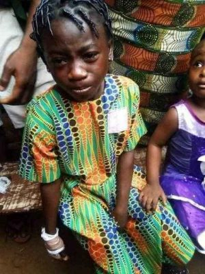Girl's finger chopped off in Onitsha