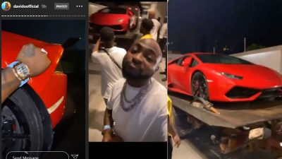 Davido Gets Delivery Of His N100m Lamborghini Huracan On Independence Day