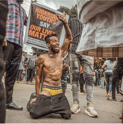 DJ Kaka's from the EndSARS protest ground has gone viral