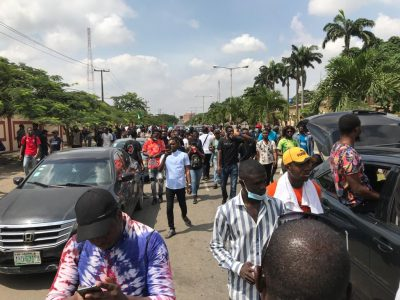 Thugs Invade Alausa, Attack Protesters
