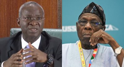 Nigerians Attack Fashola For Faulting Obasanjo Decision To Use $12bn Debt Cancellation To Pay Creditors