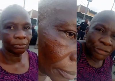 End SARS: Police Officer Slaps Aged Woman [VIDEO]