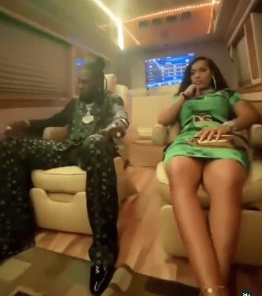 Burna Boys hangs out with Stefflon Don