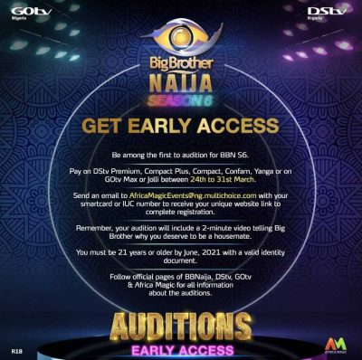 How to register for 2021 Big Brother Naija Season 6