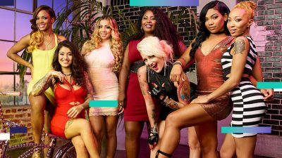 Deshayla Harris far right with the cast of Bad Girls Club