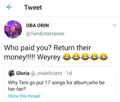 Teni Drags fan